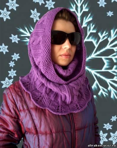 и практичный шарф, связанный спицами.